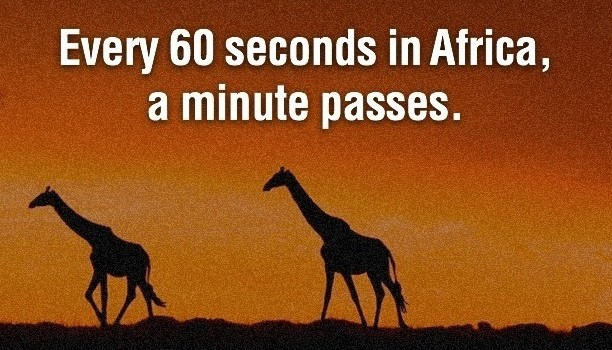Every minute in africa